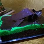 Postre de chocolate y menta