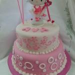 torta 2 pisos para niña con Kitty