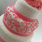 areabescos rosa en torta de 15