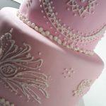 detalle de decoración torta para 15 años
